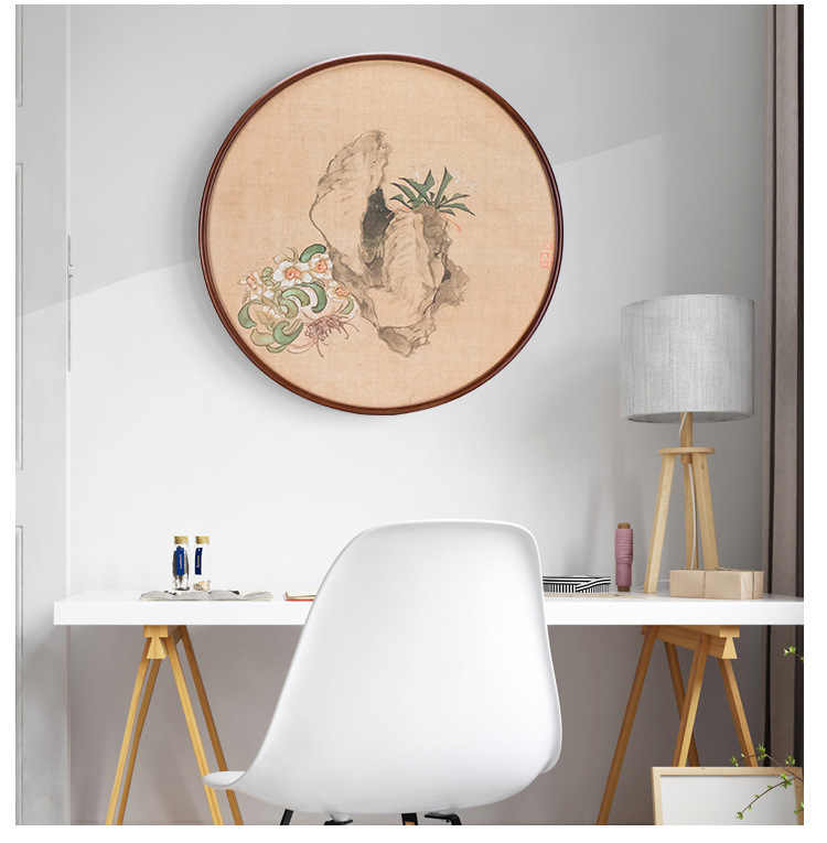 Photo Frame Collage Living Room Photo Frame Wall Creative Background Wall Decoration Living Room Decoration Painting Background Wall Abstract Painting Modern Round Wall Painting GWM Wall Decoration