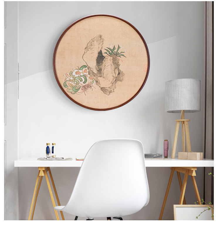 20 31.5 40 50cm Round Photo Frame 20 Inch Wood Living Room Creative Wall Hanging Big Size Picture Frame Wooden Wall Decoration