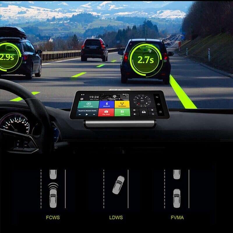 10 Cal 4G IPS Android 5.1 WIFI FHD 1080P podwójny obiektyw rejestrator monitorowanie parkowania Bluetooth ADAS nawigacja samochodowa gps kamera dvr nawigacja