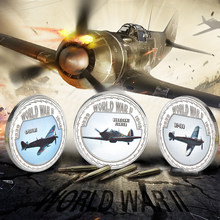 WR 999 Silver World War ii Osprey Coins Airplane or Tank Replica Copy Coin Collectibles for Euro US Business Gifts Souvenirs(China)