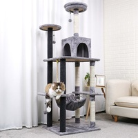 178CM Luxury Cat Scratching Post Large Climbing Frame For Cat KitternToys House Multi functional Cat Tree Board Condo Furniture