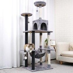 178CM luksusowy drapak dla kota duża rama wspinaczkowa dla kota KitternToys House wielofunkcyjny kot drzewo deska mieszkanie meble