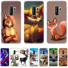 Case Cover For Samsung Galaxy A3 A5 A6 A8 Plus Lovely Deer Cartoon Animals Fox Deer Hedgehog Hard Pc Cases(China)