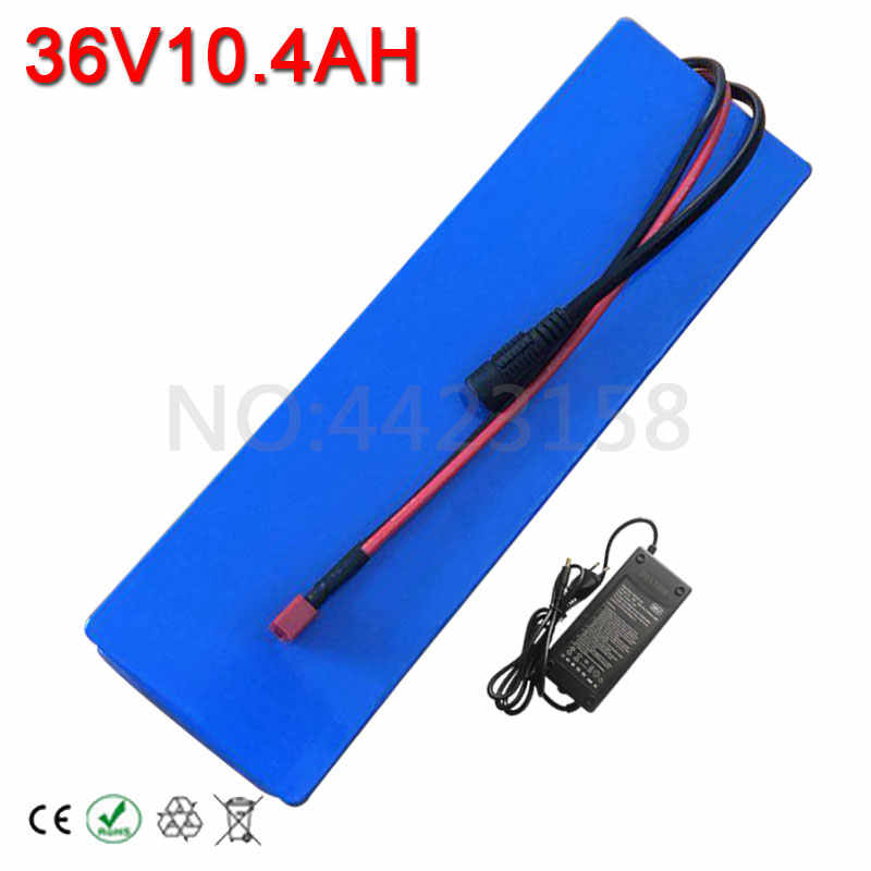 Hot Sales 250W 500W 36 Volt 10AH Electric Bicycle Battery 36V 10AH Lithium Battery with 20A BMS +42V 2A Charger Free Customs Tax