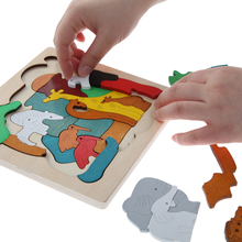 Wooden Puzzle Toys Kids Dinosau Animal Transport Multi-dimensional Jigsaw Wooden Learning Puzzle Children Gift Toy