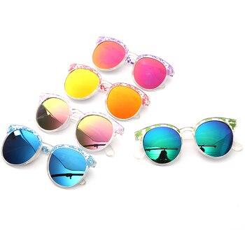 Glitztxunk New Vintage Cat Eye Children Sunglasses Sports Boys/Girls Brand Babys Sunglasses UV400 Kids Eyewear Outdoor Goggles
