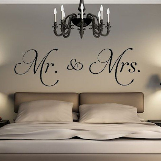 Wandtattoo Wohnzimmer | Neue Ankunft Mr Mrs Vinyl Wandtattoo Wohnzimmer Decor Aufkleber