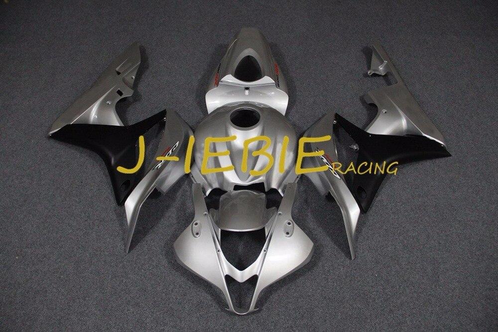 Silver black silver Injection Fairing Body Work Frame Kit for HONDA CBR600RR CBR 600 CBR600 RR F5 2007 2008