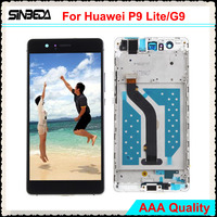 Sinbeda AAAAA 5 2 LCD Screen For Huawei P9 Lite LCD Display Touch Screen With Frame