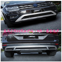 High quality stainless steel Front+Rear bumper cover trim Fenders for Volkswagen Teramont/Atlas 2017 2018 Car Styling