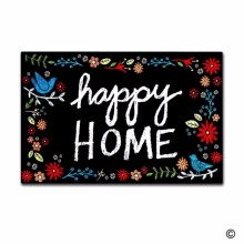 Funny Printed Doormat Entrance Mat - Non-slip Doormat- Happy Home Door for Indoor/Outdoor Use Non-woven Fabric Top 18x30 Inc