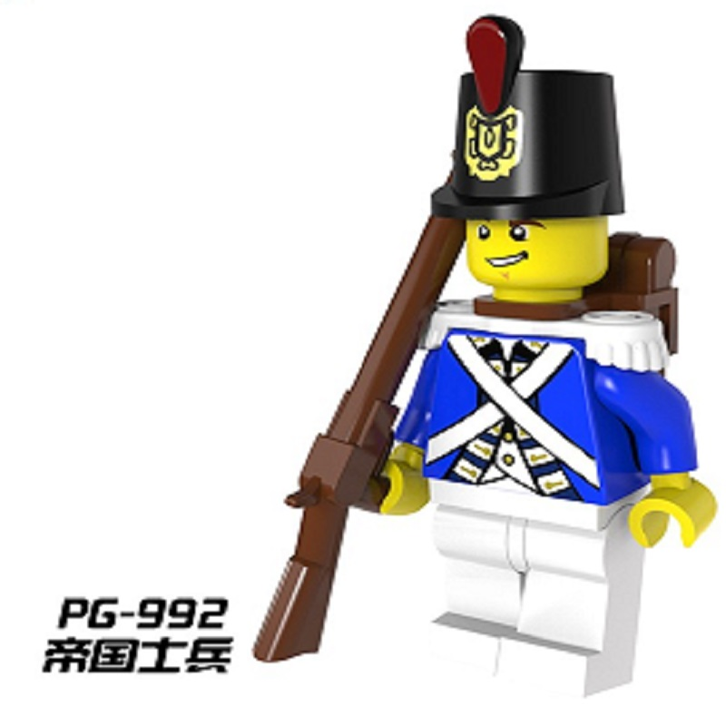 LEGO 3 x Imperial Guards Blue Coats Pirate Minifiguress with Rifles NEW