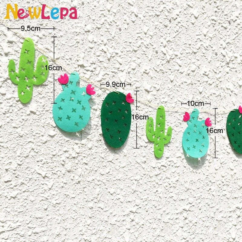 Lõbus roheline troopiline mittekootud kangad Cactus Garland Bänner - Pühad ja peod - Foto 2