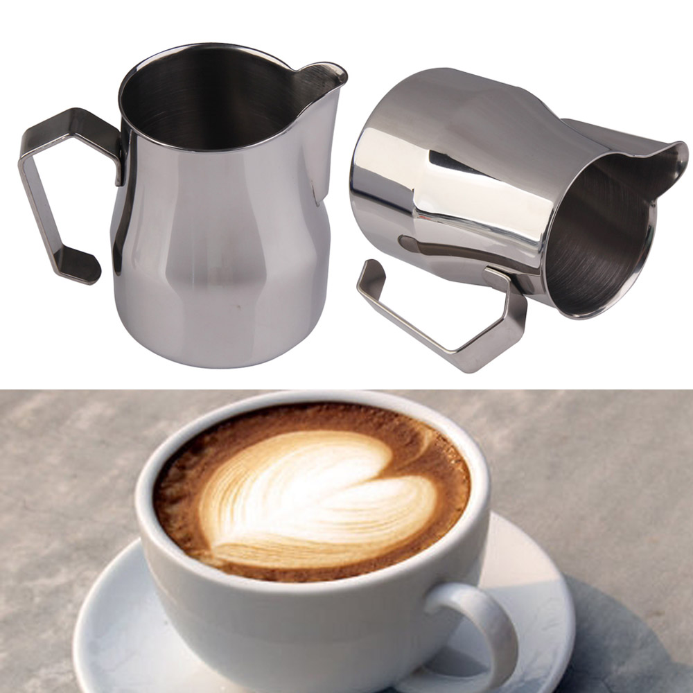 high quality barista tools stainless steel espresso maker cup wide handle coffee pot milk. Black Bedroom Furniture Sets. Home Design Ideas