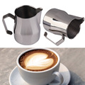 High Quality Barista Tools Stainless Steel Espresso Maker Cup Wide Handle coffee pot Milk garland Art Frothing Jug Coffee art BS