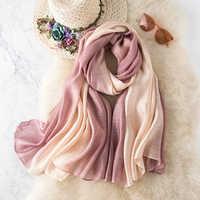 2019 Foulard en soie femmes Patchwork Foulard en mousseline de soie plage couvrir châle Sarong Foulard Femme Echarp Hijab Femme soie bandana Sjaal
