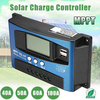 40A/50A/60A/100A MPPT Solar Panel Regulator Charge Controller 12V/24V Auto Focus Tracking Device M25