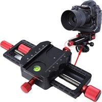 150mm macro focando trilho slider close-up tiro cabeça com arca-swiss ajuste braçadeira placa de liberação rápida para tripé ballhead
