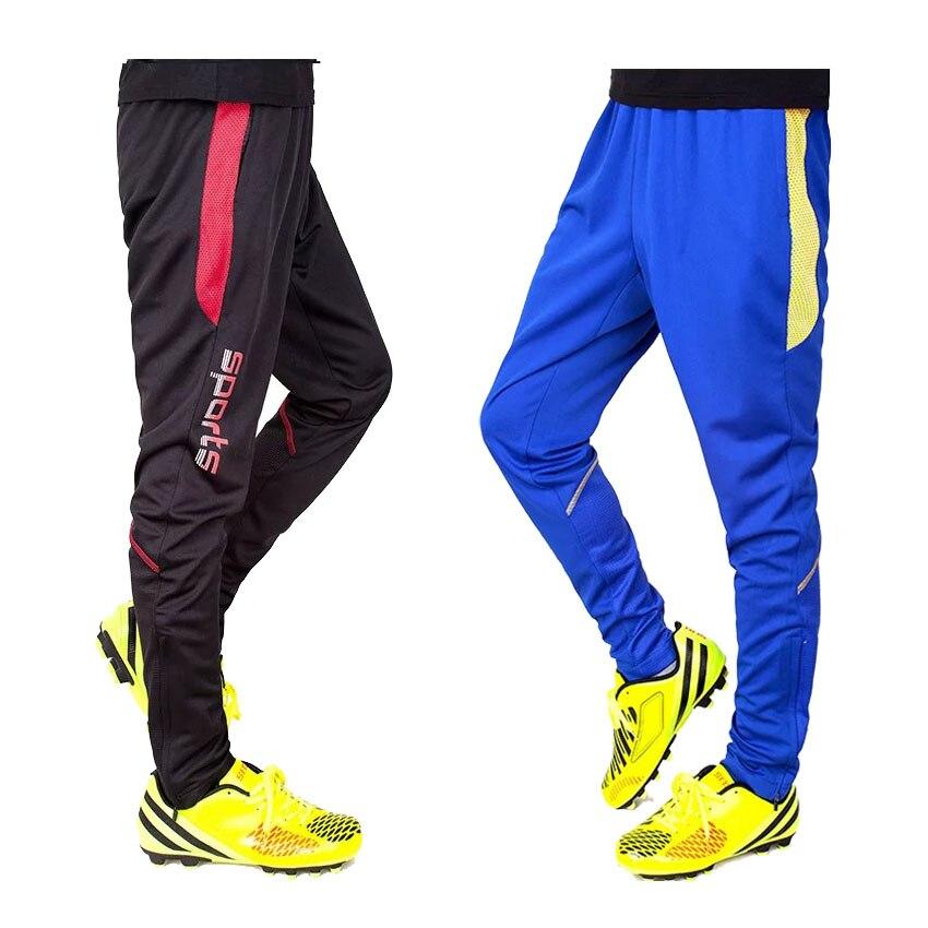 7 Colour Zipper Pocket Soccer Training track Pants Sport Trouser Men skinny Jogging football training Skinny