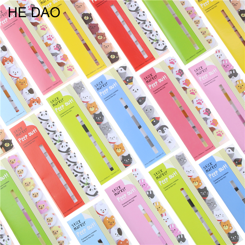 Kawaii Scrapbooking Scrapbook Stickers Sticky Notes School Office Supplies Memo Pad Page Flags For Kids Material Escolar page flags green 50 flags dispenser 2 dispensers pack