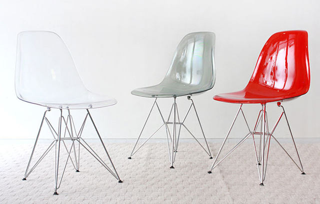 Transparent Clear Acrylic Dining Side Chair Plastic And Metal Leg Chair/  Plastic Dining Chair/Modern Design Popular Dining Chair
