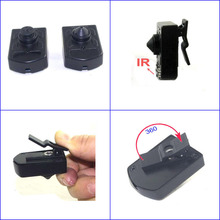 Body worn infrared night vision micro cameras with body clip mount / 5V 700tvl