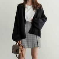 TAJIYANE 2018 Autumn Winter Korean Style Fashon Knitted Cardigan Sweater Women Harajuku Black Sweaters Jacket Sueter Mujer ZL330