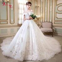 Белое свадебное платье 2019 с вуалью винтажное свадебное платье с блестками Бисероплетение Vestido de Noiva Princesa Hochzeitskleid Chapel Train