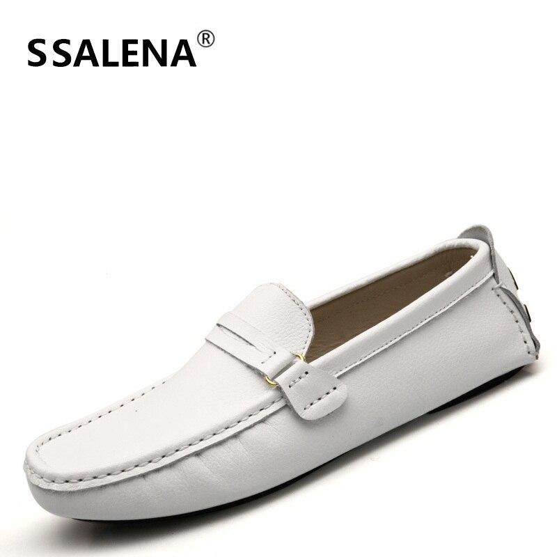 Aa20362 Conduite Fond Casual Mou 38 44 Chaussures Glissent Foncé bleu blanc Respirant Souple De kaki Mocassins Cuir En Noir Taille Sur D'affaires Hommes 0twq7Tx