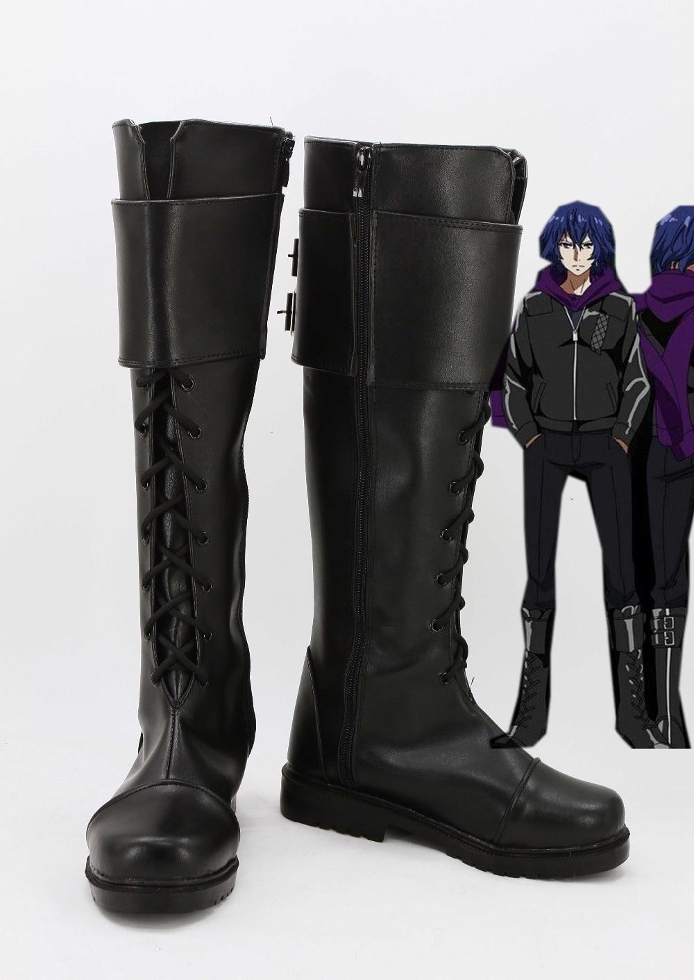 Tokyo Ghoul Kirishima Ayato Black Cosplay Shoes Boots For Christmas Halloween For Men Women
