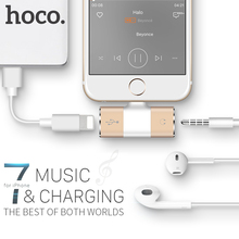 HOCO for Lightning to 3.5mm Jack 2 in 1 Charging Audio Adapter Earphone Headphone Audio Converter for Apple iPhone 7 / 7 Plus