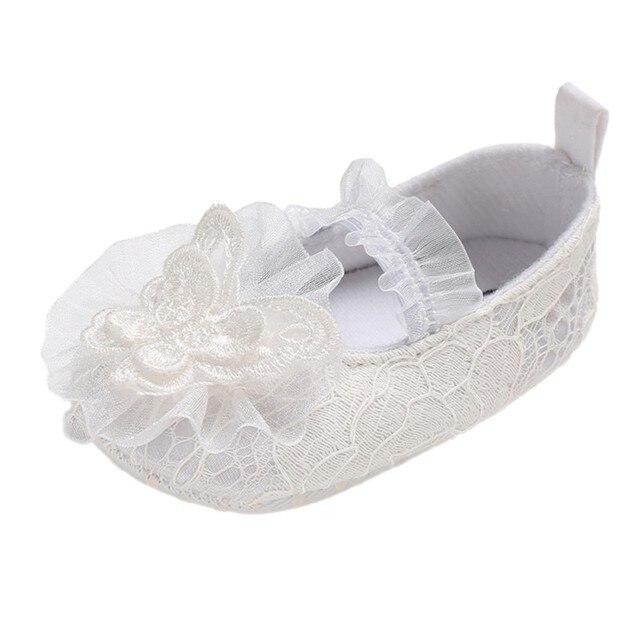 encaje Zapatos nacidos zapatos bebé recién boda de niña princesa nudo de 2018 Niño Flor bebé RE8qx7zwP
