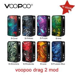 Original VOOPOO arrastrar 2 177W TC caja MOD e-cigarrillo y arrastre 157W caja mod Vape con nosotros GENE chip TC resina caja mod en stock