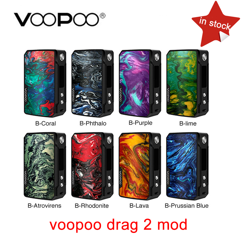 Original VOOPOO arrastrar 2 177 W TC caja MOD e-cigarrillo y arrastre 157 W caja mod Vape con nosotros GENE chip TC resina caja mod en stock