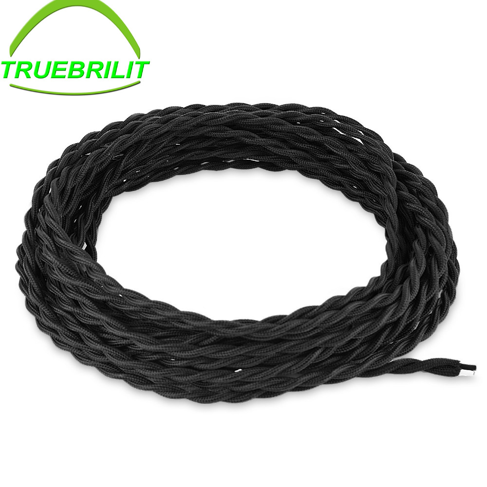 Electrical Cord Twisted Cloth Cord, 0.75/2 Cotton Covered Electrical ...