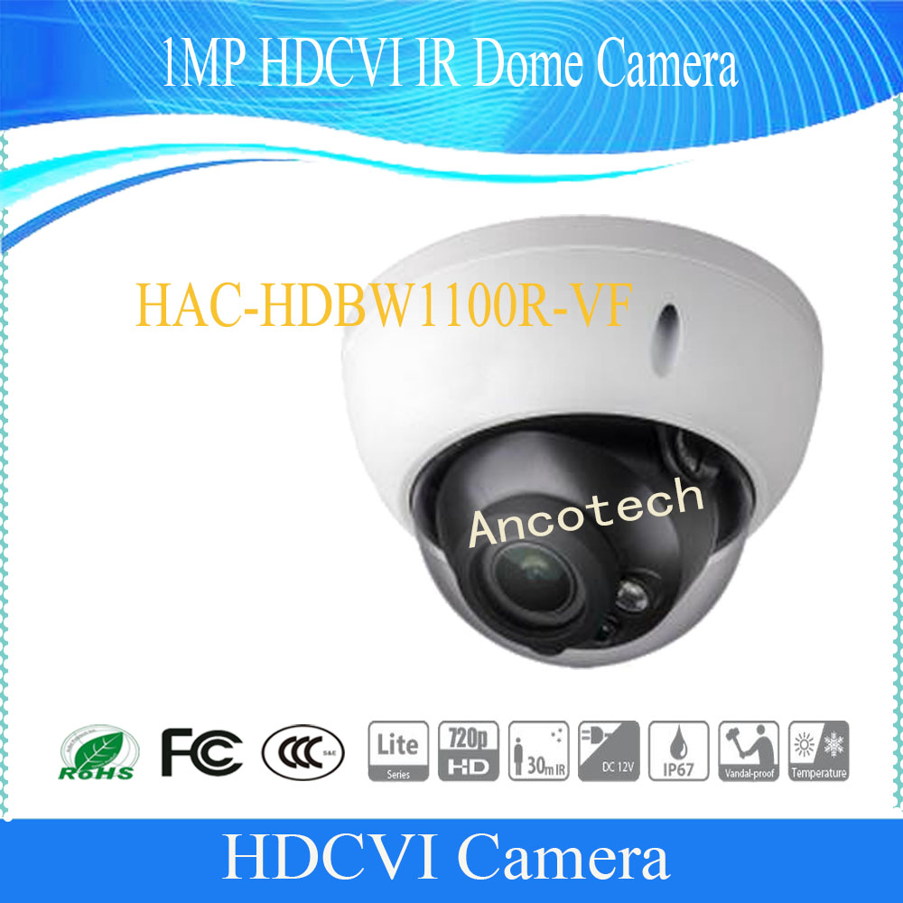 Free Shipping DAHUA CCTV Secirity Camera 1MP HDCVI IR Dome Camera IP67 IK10 Without Logo HAC-HDBW1100R-VF dahua hdcvi dome camera 1mp 720p mini ir hdcvi camera security ip camera cctv 30m ir distance ip67 without logo hac hdw1100r vf