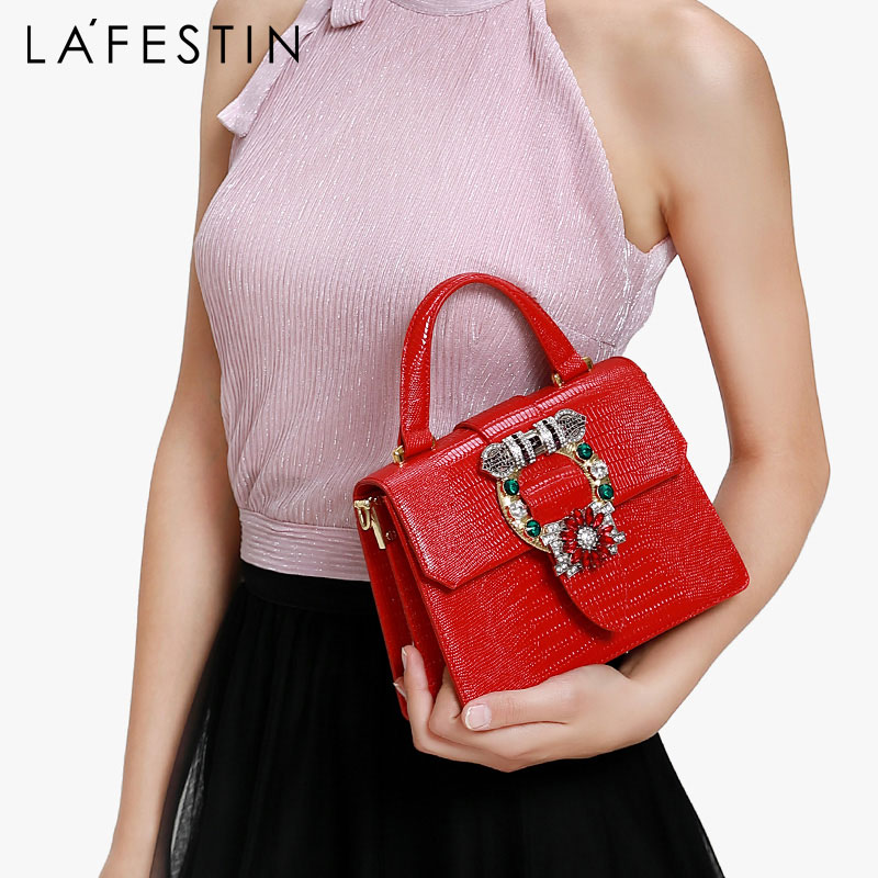 LAFESTIN Luxury Handbag Women bags 2019 New Diamond Handbag Fashion Shoulder Bag Messenger Bag Bolsa Feminina