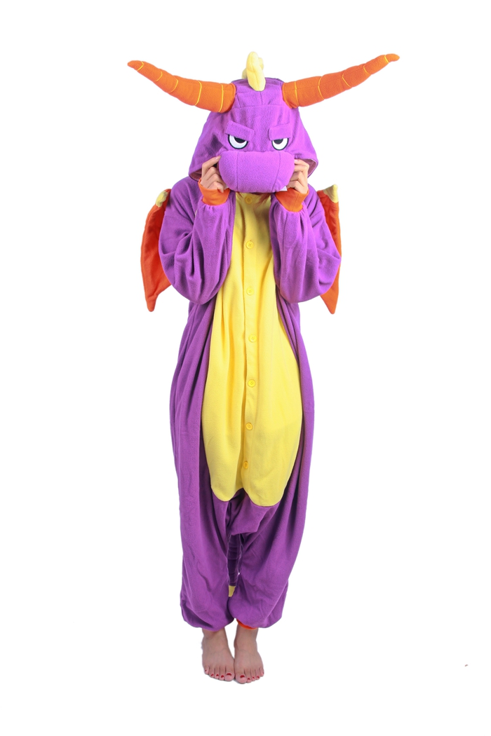 Unisex Fleece Adult Royal Dragon Onesies Animal Cosplay Costume Halloween Xmas Pajama