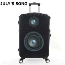 JULY'S SONG Luggage Protective Cover For 18 to 32 inch Trolley Suitcase Elastic Dust Bags Luggage Case Travel Accessories Supply july s song new suitcase elastic dust cover luggage case for 18 32 inch password box trolley case cat pattern protective cover