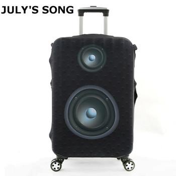 JULYS SONG bagaż osłona ochronna do 18 do 32 cala wózek walizka elastyczne torby na kurz walizki Travel akcesoria dostawa tanie i dobre opinie 74cm Poliester Odbitki zwierzęce PIOSENKA LIPCA 400g 50cm 28cm Pokrowiec na bagaż AAB0944 Akcesoria podróżne dla 18-20 cala walizka