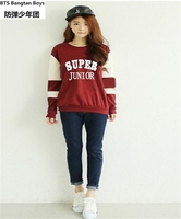 2017 New Kpop Super Junior Pullover Fleeces Hoodies Coat Clothes K Pop Sj Female Korean Autumn