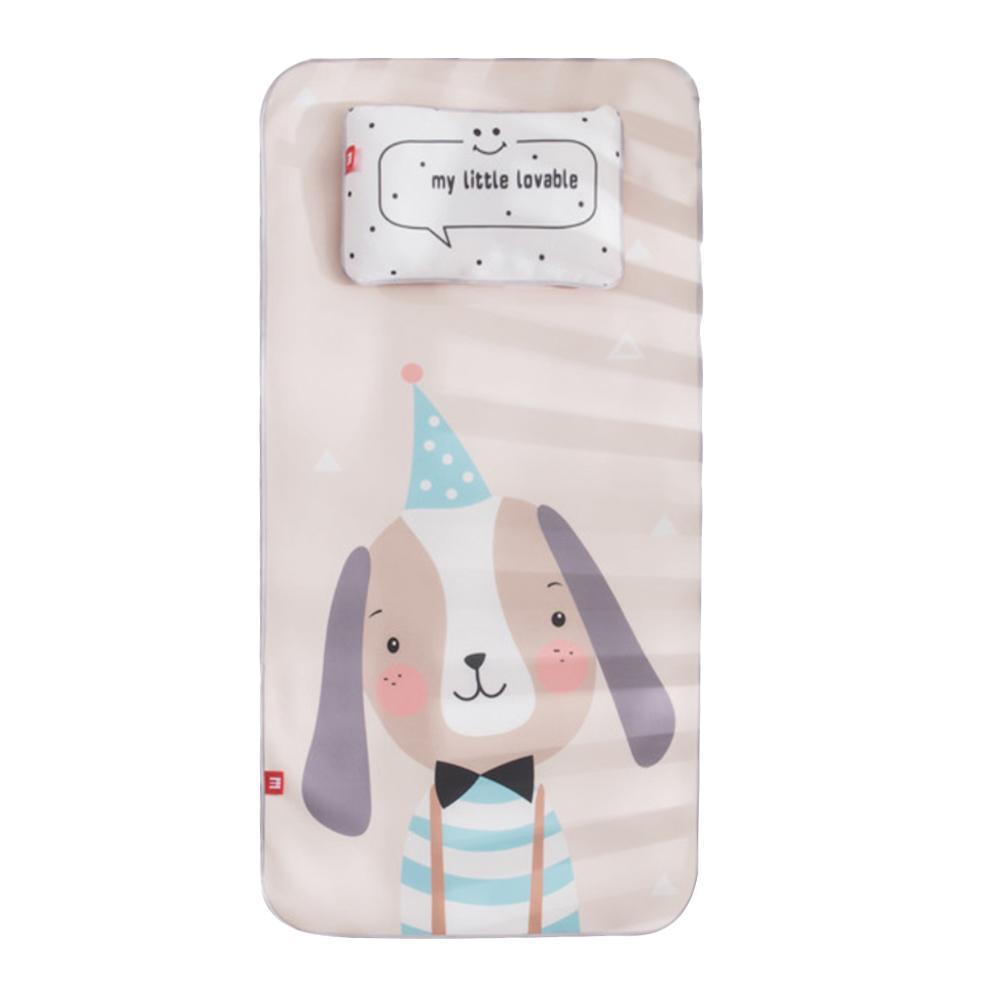 Baby Ice Silk Mat With Pillow Set Kindergarten Kids Mat Cute Cartoon Crib In Addition To Be A Mattress Sheet Cover