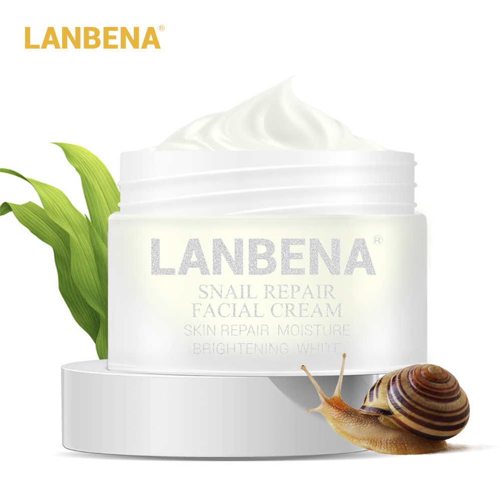 LANBENA Snail Repair Whitening Facial Cream Day Cream Anti Wrinkle Anti Aging Acne Treatment Moisturizing Firming Skin Care 30g цены