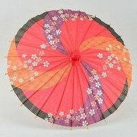 10pcs 30cm Japanese Children Style Japanese Paper Umbrella Mini Hand painted Long straight Craft Parasols Home Decoration Z519