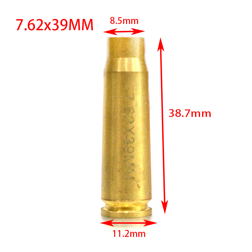 Cal 7.62X39MM Brass Material Red Laser Sight Bore Sight Colimador Red Laser Sight For AK 47 AK74 SKS Type 56 Shot Gun Rifles
