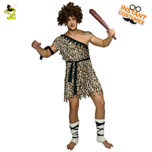 Men's Jungle Caveman Costume  Cosplay Carnival Original Stone Age Stag Halloween Party Role Play Caveman Costumes