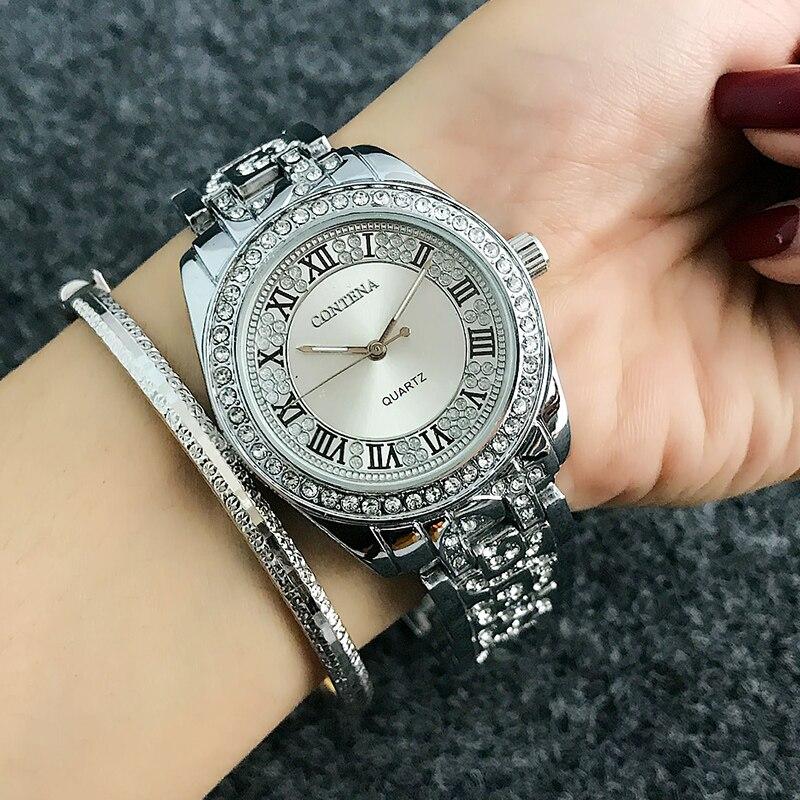 2126a2612384 Cheap Reloj mujer contena moda romana numerales reloj mujeres relojes  diamante Relojes de mujer oro rosa