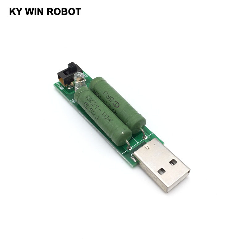 Active Components Forceful Usb Mini Discharge Load Resistor 2a/1a With Switch 1a Green Led Integrated Circuits 2a Red Led Relieving Rheumatism