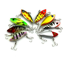 16pcs Super Mini VIB Fishing Lure Winter Bait 4cm 2.8g All Water Levels Sinking Lure Hard Artificial Vibration Tackle Wobblers