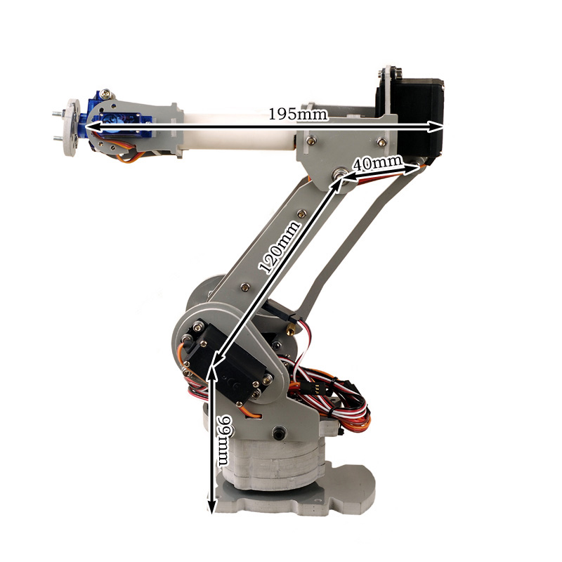 Six axis Motor Servo CNC robotic arm model/6DOF all metal robot arm